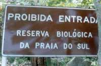 Placa Reserva Biológica Praia do Sul