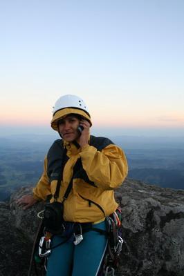 Mirthis no cume ligando para Clóvis no Nordeste - foto de Cristiano Hammes