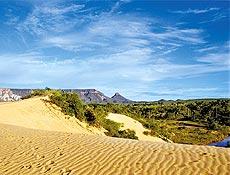Imagem das dunas do Jalapão: unidade de conservação é cenário de gravações