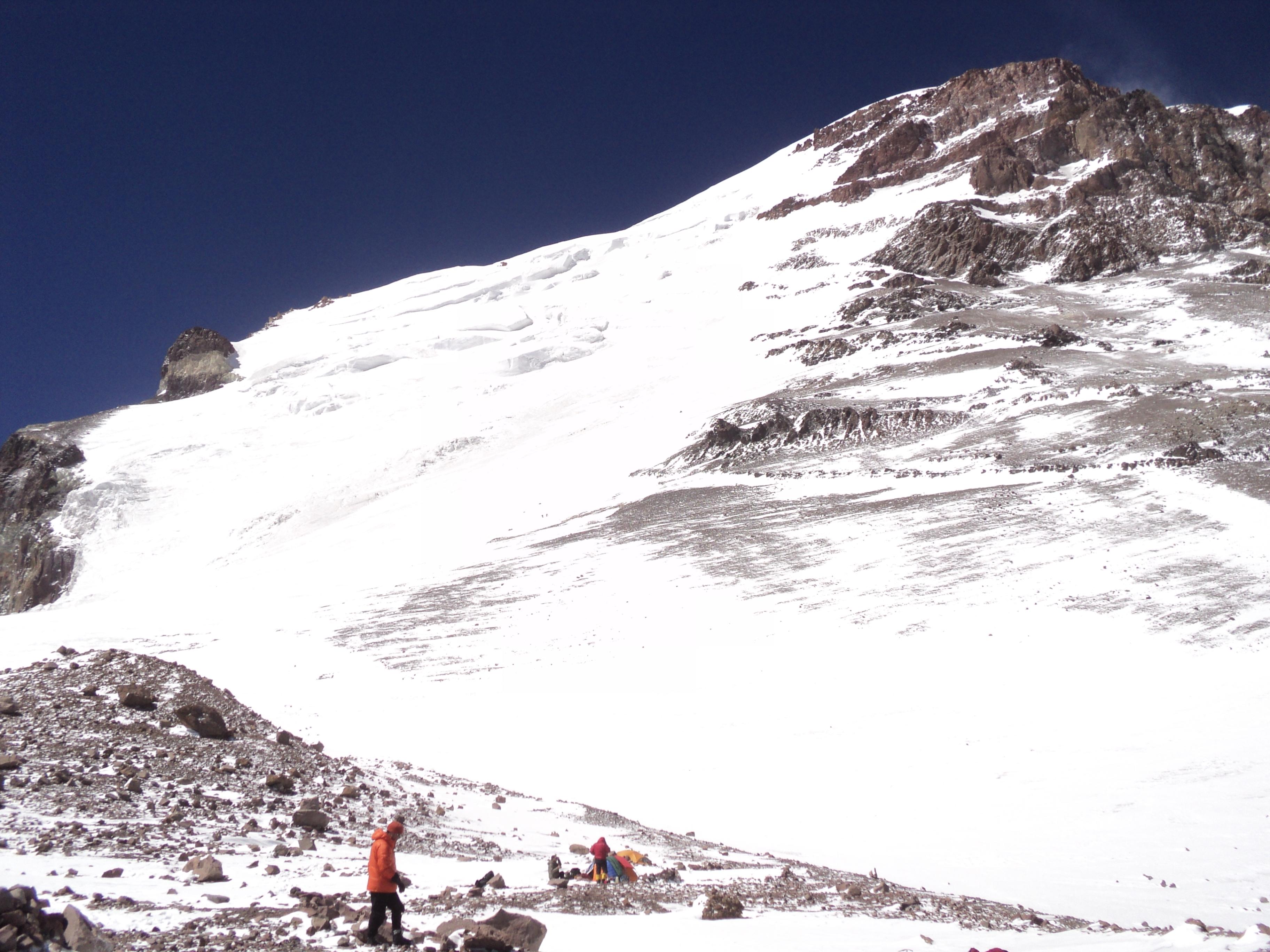 O Glaciar visto do campo 2