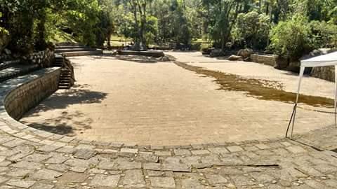 Piscina natural no centro de visitantes do PNSO